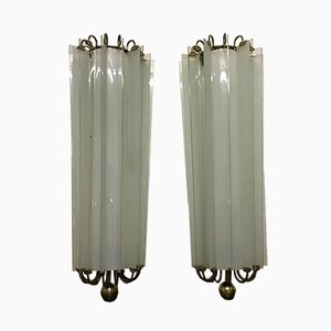 Large German Art Deco Wall Sconces, 1930s, Set of 2