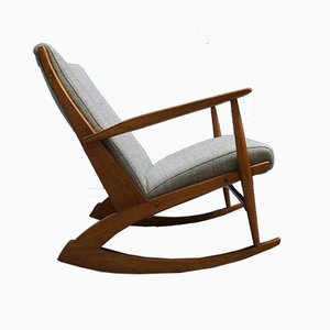Danish 97 Rocking Teak Wood Chair by Søren Georg Jensen for Tønder Møbel, 1958
