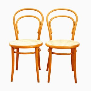 No. 14 Chair from TON, 1980s, Set of 2