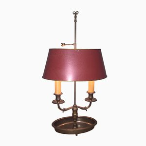 French Empire Style Bronze and Tole Bouillotte Lamp, 1920s