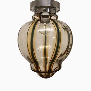Mid-Century Hängelampe aus Glas