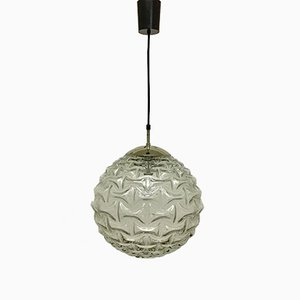 Large Mid-Century German Glass Globe Pendant from Limburg, 1960s