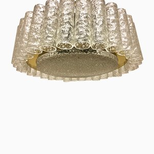 Mid-Century Six-Light Glass Flush Mount from Doria