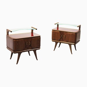 Mid-Century Nightstands, 1950s, Set of 2