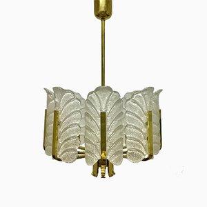 Lampadario vintage a forma di foglie d'acanto di Carl Fagerlund per Orrefors