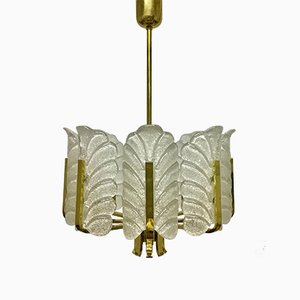 Vintage Accanthus Leaves Chandelier by Carl Fagerlund for Orrefors