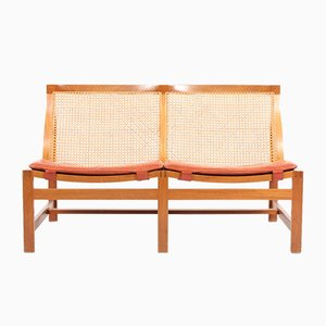 Mid-Century Danish Mahogany & Leather Sofa by Rud Thygesen & Johnny Sørensen for Magnus Olesen