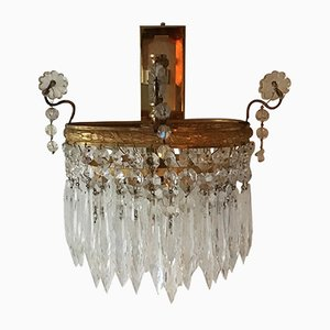 Gilt Brass & Glass Wall Sconce by Ernst Palme, 1960s