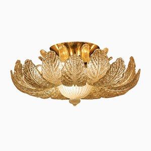 Large Murano Glass Flush Mount from Barovier & Toso, 1960s
