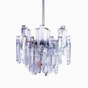 Lámpara de araña de vidrio esmerilado de Kalmar, años 60