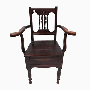 Antique Mahogany Commode Chair