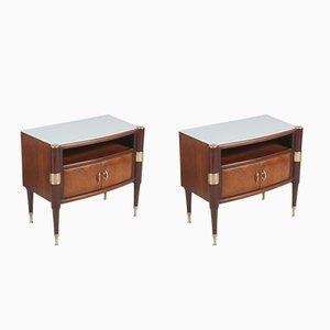 Tables de Chevet Mid-Century par Pier Luigi Colli pour La Permanente Mobili Cantù, 1950s, Set de 2