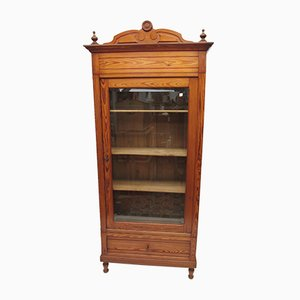 Vintage Pitch Pine Display Case, 1920s