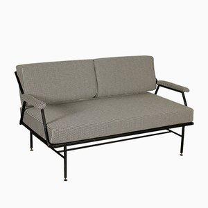 Italienisches Sofa mit Gestell aus Metall & Schaumstoffpolster, 1960er