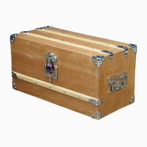 Vintage Pearlwood Trunk with Key