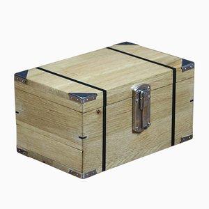Vintage Kiste aus Eiche & Ebenholz