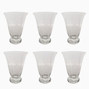 Copas de vino modelo Kim de cristal de Daum, años 50. Juego de 6