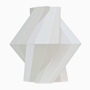White Ceramic Fortress Pillar Vase by Bohinc Studio