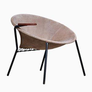 Poltrona rotonda di Hans Olsen per Lea Design, anni '60
