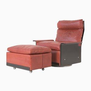 System 620 Sessel mit Fußhocker von Dieter Rams für Vitsoe, 1962