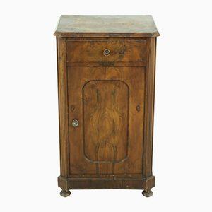 Comodino antico in legno di noce, fine XIX secolo