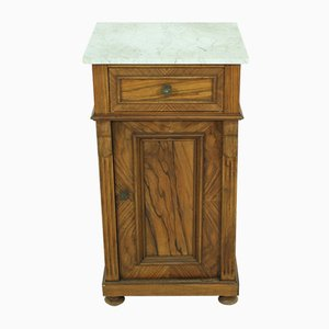 Antique Walnut Nightstand, 1890s
