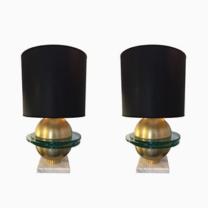 Italian Table Lamps, 1970s, Set of 2