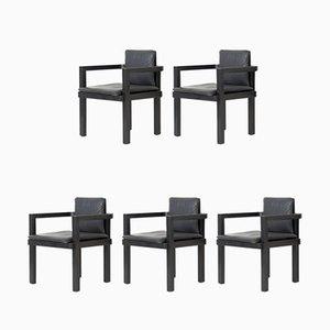 Panca D 51 con cinque sedie di Walter Gropius per Tecta, inizio XXI secolo