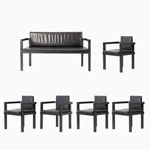 D 51 Bench & 5 Chairs Set by Walter Gropius for Tecta, 2000s