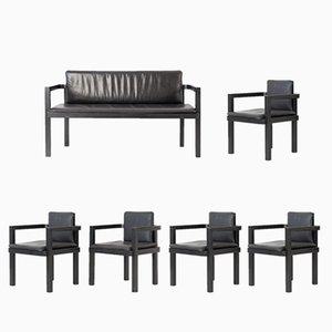 Set 5 Chaises et 1 Banc D 51 par Walter Gropius pour Tecta, 2000s