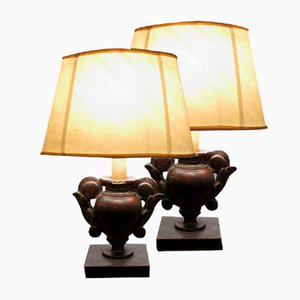 Antique Table Lamps, Set of 2