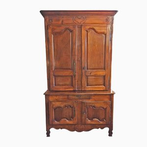 Antique Louis XV Walnut Cabinet