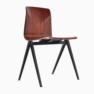 S22 Industrial Plywood School Chair from Galvanitas, 1960s