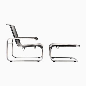 S35 Armchair with Ottoman by Marcel Breuer for Thonet, 1990s