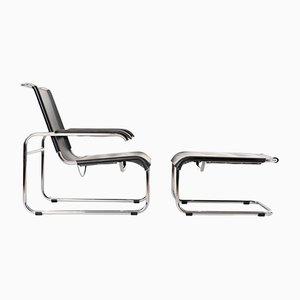 S35 Sessel mit Fußhocker von Marcel Breuer für Thonet, 1990er