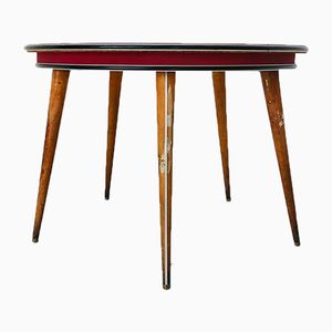 Round Mid-Century Game Table by Umberto Mascagni