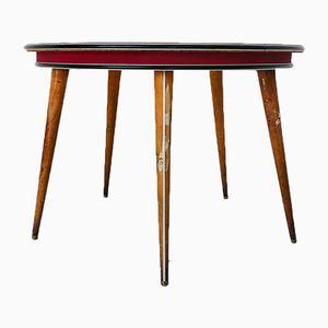 Tavolo da gioco rotondo Mid-Century di Umberto Mascagni