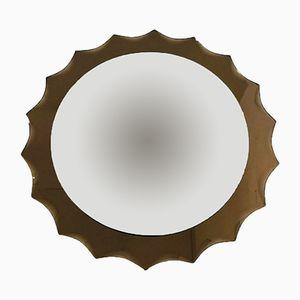 Specchio a muro in vetro fumé, anni '70