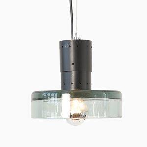 Lámpara colgante de cristal de Murano de Flavio Poli para Seguso, años 60