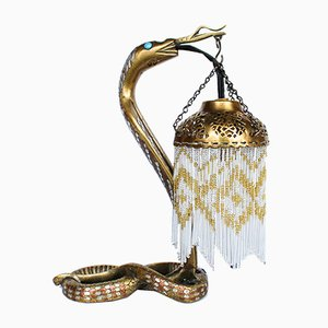 Lampe Serpent Art Déco en Bronze
