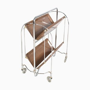 Vintage German Formica and Chrome Serving Cart