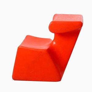 Chaise pour Enfant Zocker Orange par Luigi Colani pour Top System Burkhard Lübke, 1970s