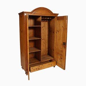 Austrian Solid Wood Wardrobe Cabinet, 1830s