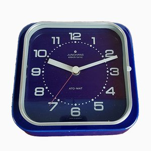 Vintage Blue Ceramic Ato Mat Electronic Clock from Junghans, 1970s