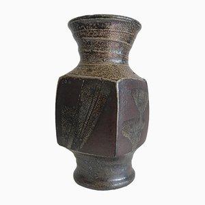 Vase aus Steingut von Gustave Tiffoche