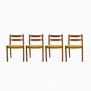 Model 84 Oak Dining Chairs by Niels O. Møller for J.L. Møllers, 1960s, Set of 4