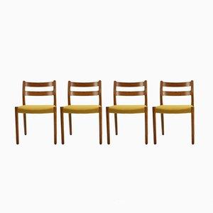 Modell 84 Esszimmerstühle mit Gestell aus Eiche von Niels O. Møller für J.L. Møllers, 1960er, 4er Set