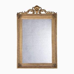 Großer vergoldeter französischer Spiegel, 1800er