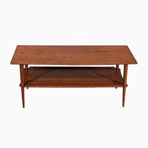 Mid-Century Danish Two-Tier Teak Coffee Table