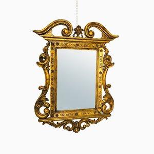 Spiegel mit goldfarbenem Rahmen, 1920er